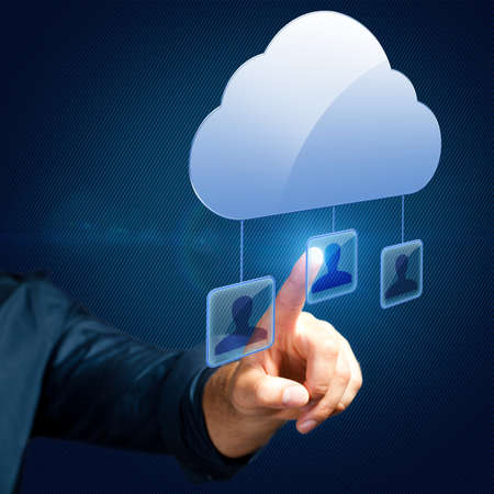 Selecting a person is in a cloud network photo