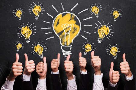 aprendizaje: muchos pulgares para arriba a las ideas