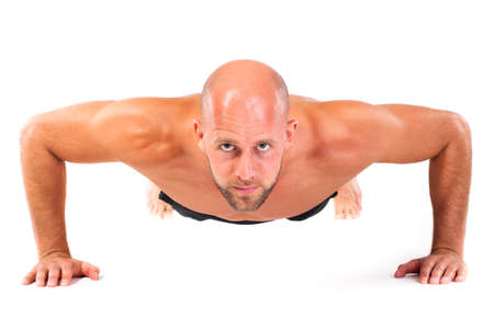 man doing a fitness exercise