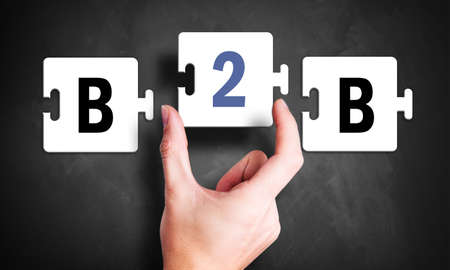 suitability: hand with a puzzle and the letters B2B