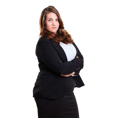 serious: young businesswoman