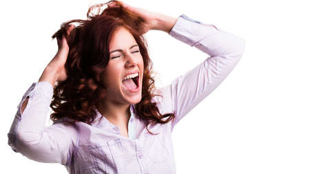 exasperation: screaming woman