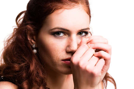 redhead: attractive young woman Stock Photo