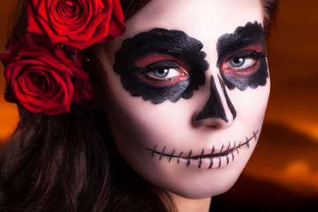 make belief: sugar skull makeup