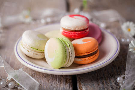 tasty macarons photo