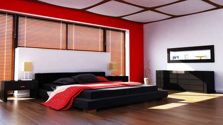 uncarpeted: rendered modern bedroom