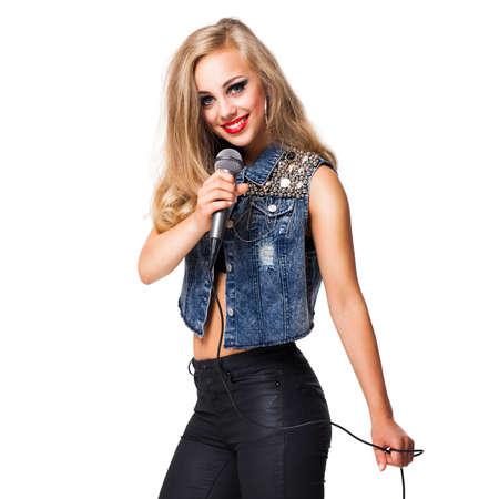 self assured: young blonde singer