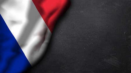 unitary: france flag on a chalkboard Stock Photo