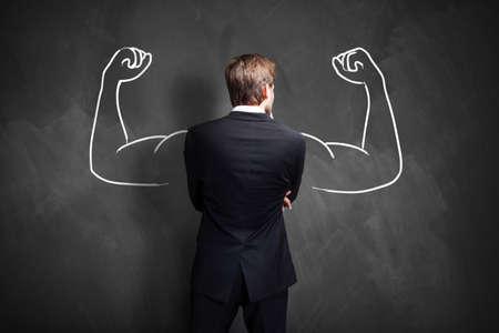 fitness and health: forte uomo d'affari