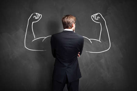 health   fitness: strong businessman