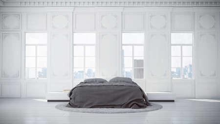 3D rendered classic bedroom