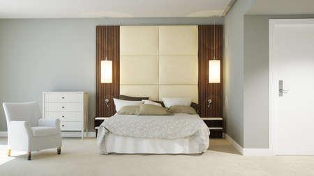 3D gerendert Hotelzimmer Standard-Bild - 36457291