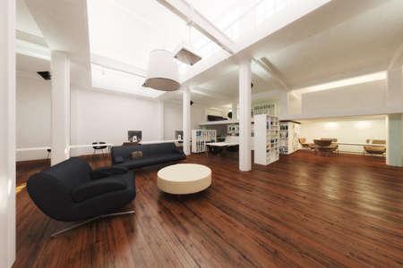 3D-gerenderten Büroflächen