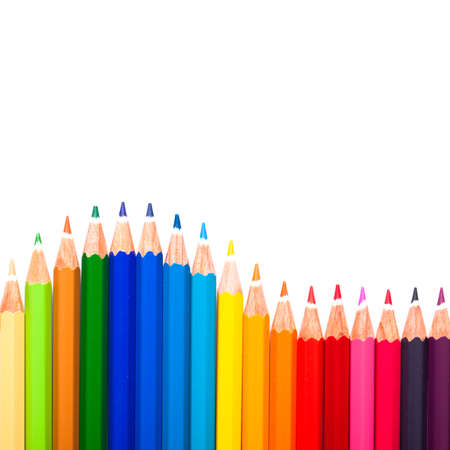 variance: many colorful pens and a wave
