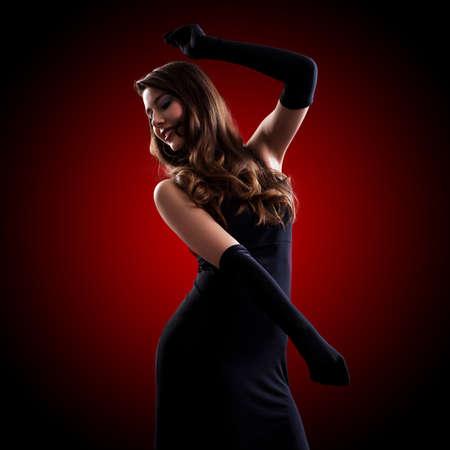 ravishing: young woman in a long dress