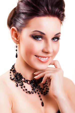 flawless: attractive smiling woman Stock Photo