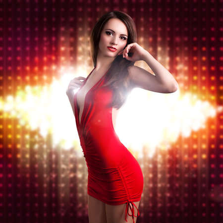 attractive woman in a dress