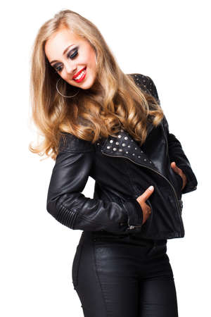 glam rock: attractive young blonde woman