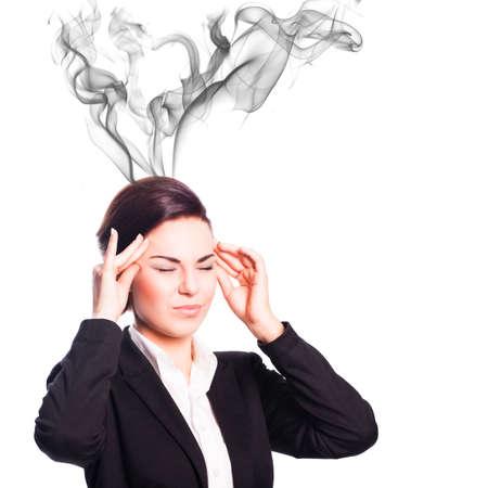 envisage: attractive businesswoman with headache