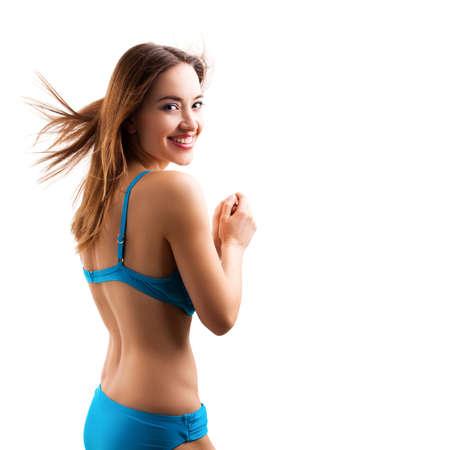 alluring: attractive woman in beach wear