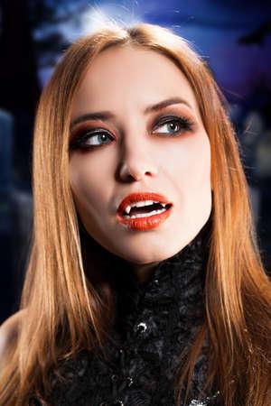 beautiful vampire: attractive vampire