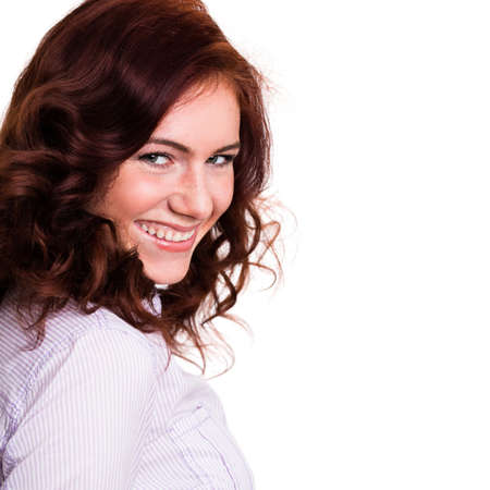 redhaired: attractive smiling woman Stock Photo