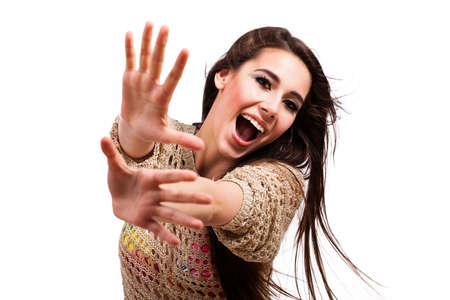 supple: young happy girl