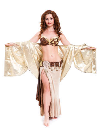 bellydance: attractive bellydancer on isolated background Stock Photo