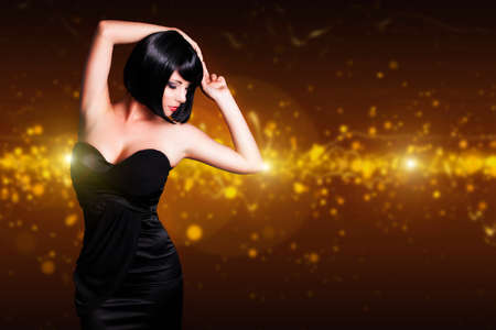 attractive dancing woman