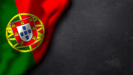 portugese: portugese flag on a chalkboard Stock Photo