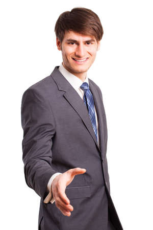 executive affable: businessman with shake hands gesture