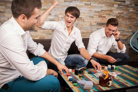 poker: friends playing poker