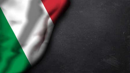bandiera italiana: bandiera italiana su una lavagna