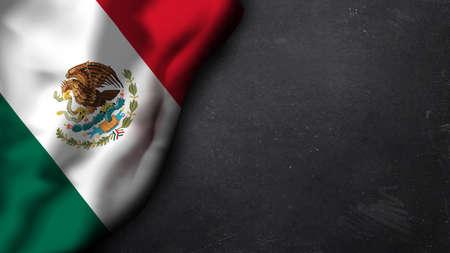 bandera de mexico: bandera mexicana en una pizarra Foto de archivo