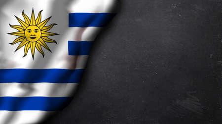 identidad cultural: bandera argentina en una pizarra Foto de archivo