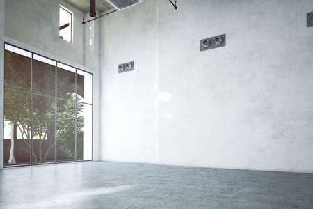 leer gemacht Industrieraum