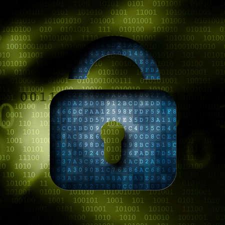 decipher: decrypting binary code through keys Stock Photo