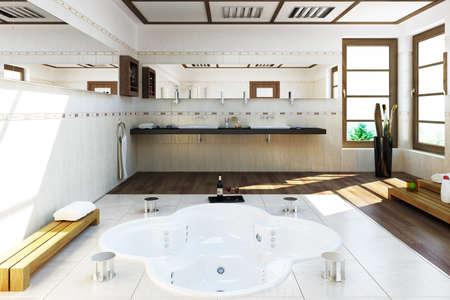 bath room: 3D rendered bath room