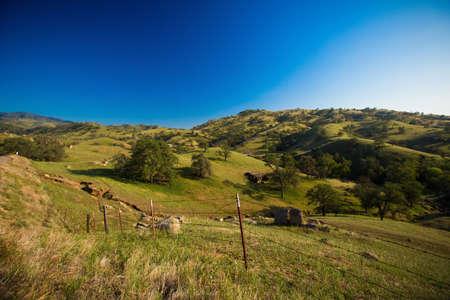 sierra nevada: farmland in the sierra nevada foothills