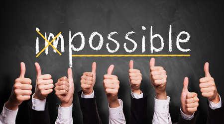 unmöglich abwechselnd möglich