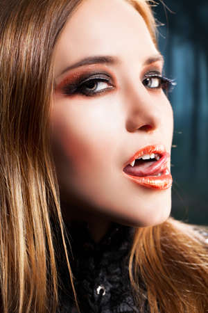 beautiful vampire: attractive vampire