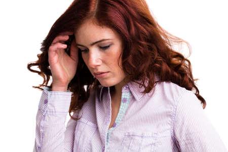 envisage: depressed attractive woman