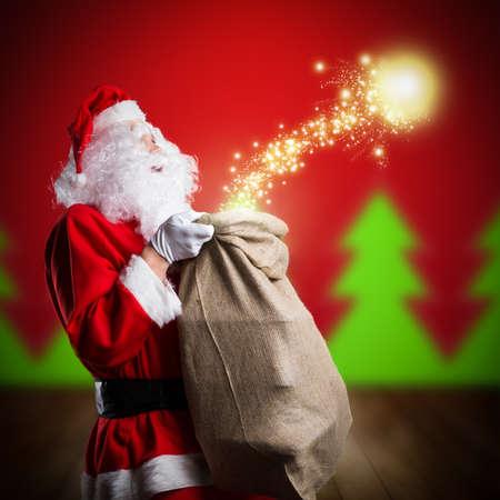 magie: Père Noël avec magie de Noël
