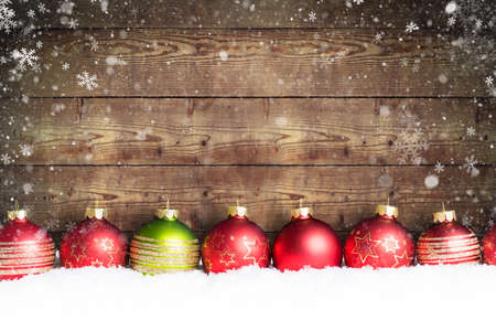 christmas cards: christmas ball in the snow