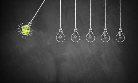 una idea está comenzando una reacción en cadena de la siguientes ideas