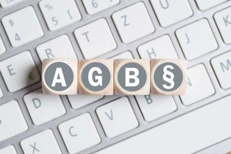Geschäftsbedingungen (als Akronym AGB in deutscher Sprache) Standard-Bild - 55357629