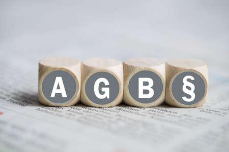 Geschäftsbedingungen (als Akronym AGB in deutscher Sprache) Standard-Bild - 55362067