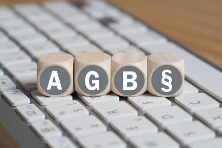 Terms and Conditions (as acronym AGB in German) Banque d'images