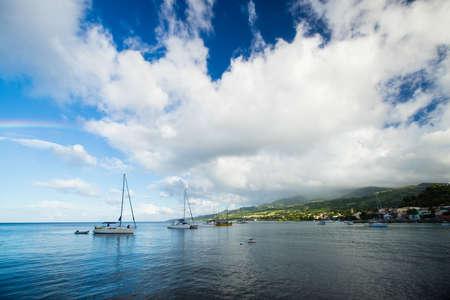 martinique: bay on Martinique, Carribean Sea Stock Photo