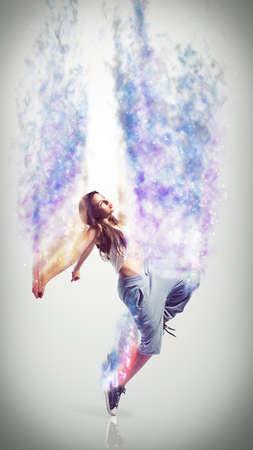 supple: young dancing girl Stock Photo